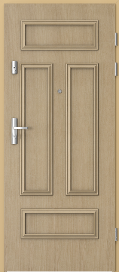 Drzwi wejściowe do mieszkania KWARC ramka 2 Okleina Naturalna Dąb **** Dąb 1