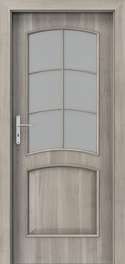 Drzwi wewnętrzne Porta NOVA 6.2 Okleina Portasynchro 3D *** Akacja Srebrna
