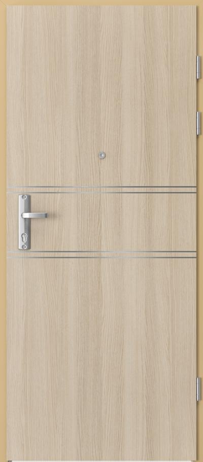 Drzwi wejściowe do mieszkania EXTREME RC3 intarsje 4 Okleina CPL HQ 0,7 ****** Dąb Milano 1