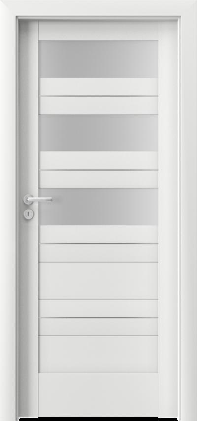 Drzwi wewnętrzne Porta VERTE HOME, C C.3 intarsje Okleina Portadecor *** Biały