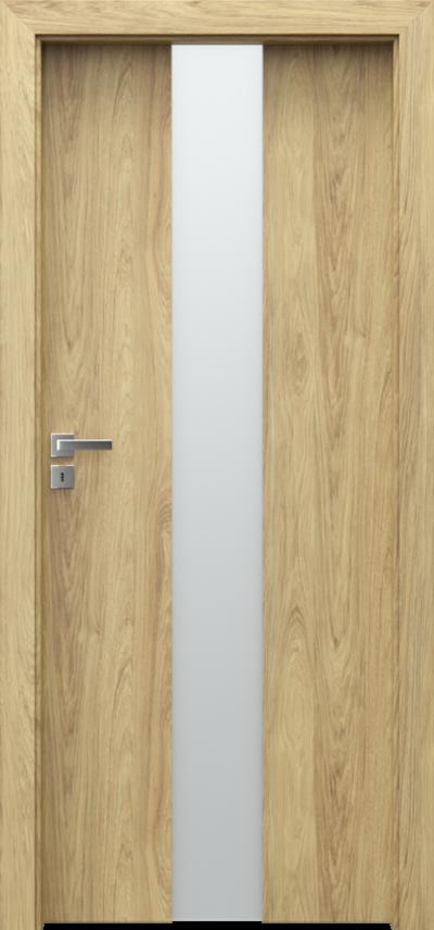 Drzwi wewnętrzne Porta FOCUS 2.0 szyba matowa Okleina CPL HQ 0,2 ***** Hikora Naturalna