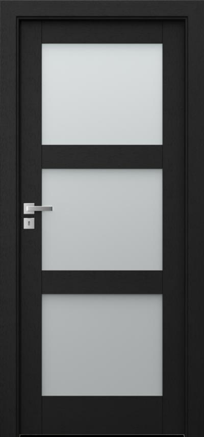 Drzwi wewnętrzne Natura GRANDE B.3 Okleina Naturalna Select **** Czarny