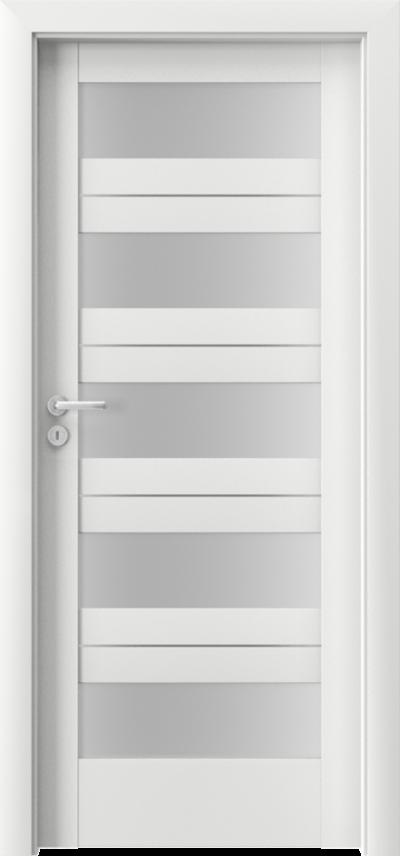 Drzwi wewnętrzne Porta VERTE HOME, C C.5 intarsje Okleina Premium **** Biały Premium