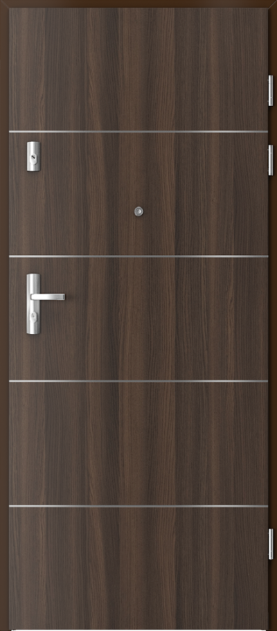 Drzwi wejściowe do mieszkania GRANIT intarsje 6 Okleina CPL HQ 0,7 ****** Dąb Milano 5