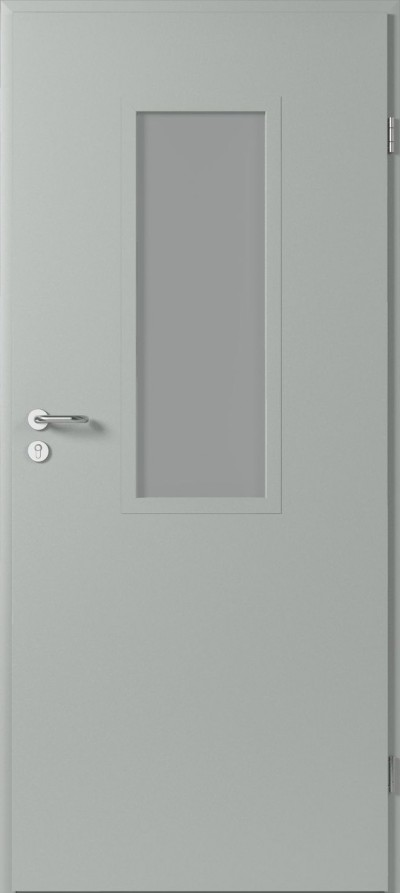 Drzwi techniczne Metalowe 1 Farba Poliestrowa ***** Popielaty Euroinvest RAL 7047