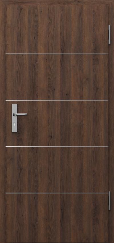 Drzwi techniczne INNOVO 37 dB Intarsje 6 Gladstone Gladstone/Halifax ****** Dąb Brązowy