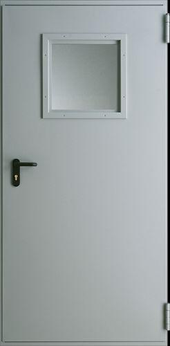 Drzwi techniczne Metalowe EI 30 2 Farba Poliestrowa ***** Popielaty Euroinvest RAL 7047
