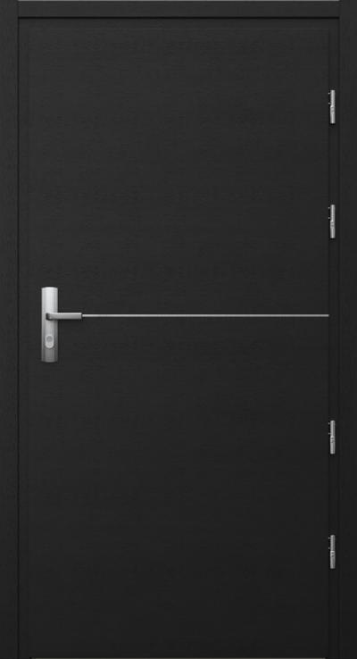 Drzwi techniczne Przeciwpożarowe EI 30 intarsje 7