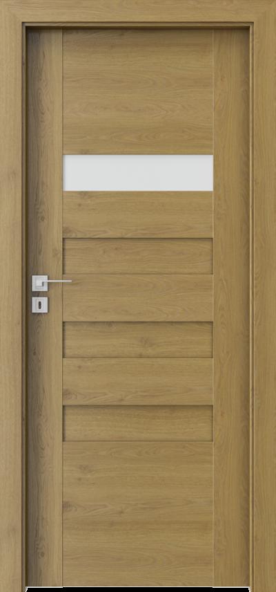 Drzwi wewnętrzne Porta KONCEPT H.1 Okleina Portaperfect 3D **** Dąb Naturalny