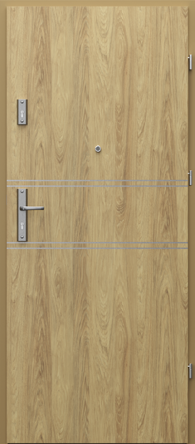Drzwi wejściowe do mieszkania OPAL RC2 intarsje 4