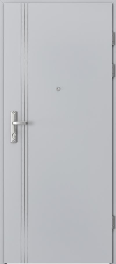 Drzwi wejściowe do mieszkania EXTREME RC3 intarsje 3 Okleina CPL HQ 0,2 ***** Popielaty Euroinvest