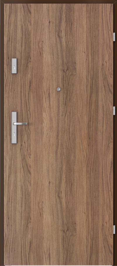 Drzwi wejściowe do mieszkania AGAT Plus pełne Okleina Portaperfect 3D **** Dąb Kalifornia
