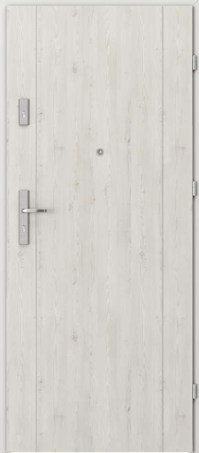 Drzwi wejściowe do mieszkania OPAL Plus intarsje 1 Okleina Portasynchro 3D *** Sosna Norweska