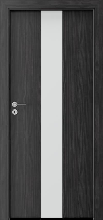 Drzwi wewnętrzne Porta FOCUS 2.0 szyba matowa Okleina CPL HQ 0,2 ***** Struktura ciemny
