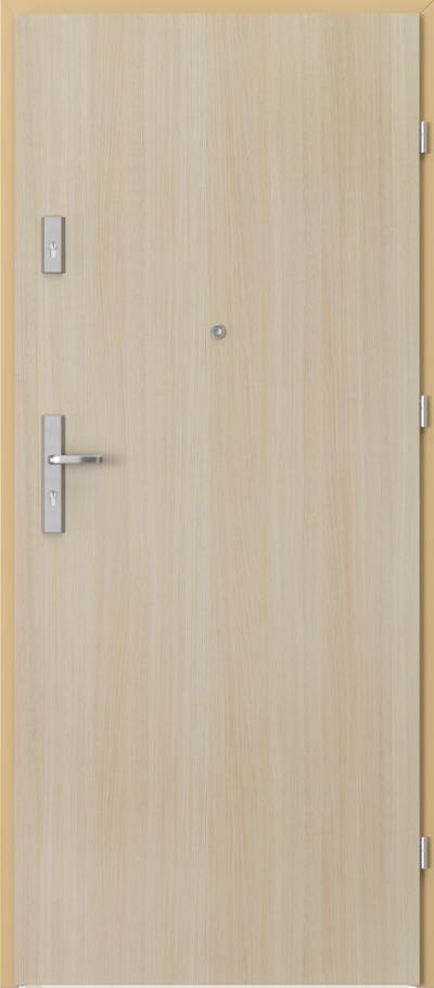 Drzwi wejściowe do mieszkania AGAT Plus pełne Okleina Portaperfect 3D **** Dąb Malibu