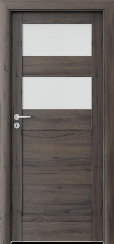 Drzwi wewnętrzne Porta VERTE HOME, L L.2 Okleina Portasynchro 3D *** Dąb Ciemny