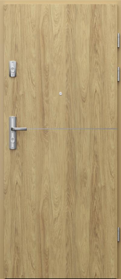 Drzwi wejściowe do mieszkania KWARC intarsje 7