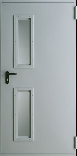 Drzwi techniczne Metalowe EI 30 1 Farba Poliestrowa ***** Popielaty Euroinvest RAL 7047