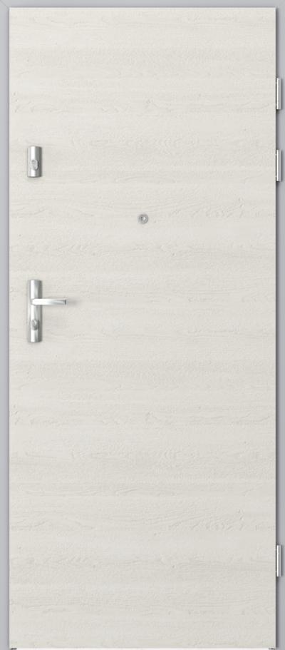 Drzwi wejściowe do mieszkania KWARC pełne Gladstone/Halifax ****** Dąb Biały
