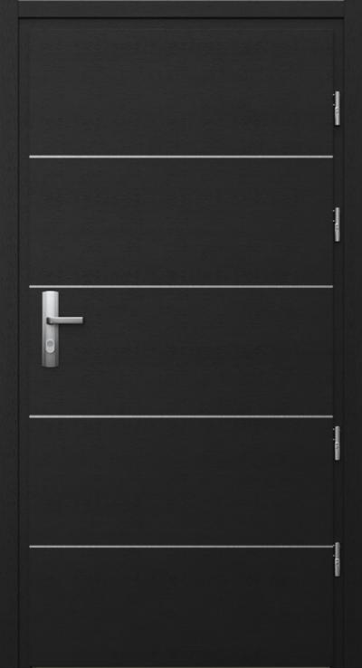 Drzwi techniczne Przeciwpożarowe EI 30 intarsje 6