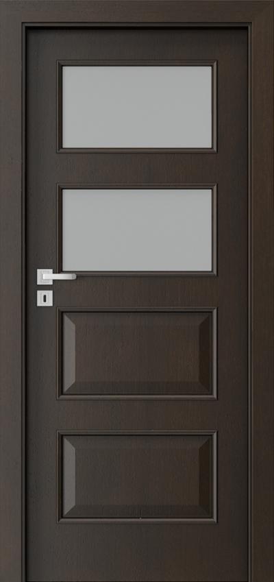 Drzwi wewnętrzne Natura CLASSIC 5.3 Okleina Naturalna Dąb Satin **** Nero