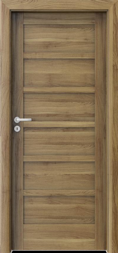 Drzwi wewnętrzne Porta VERTE HOME, A A.0 Okleina Portasynchro 3D *** Akacja Miodowa