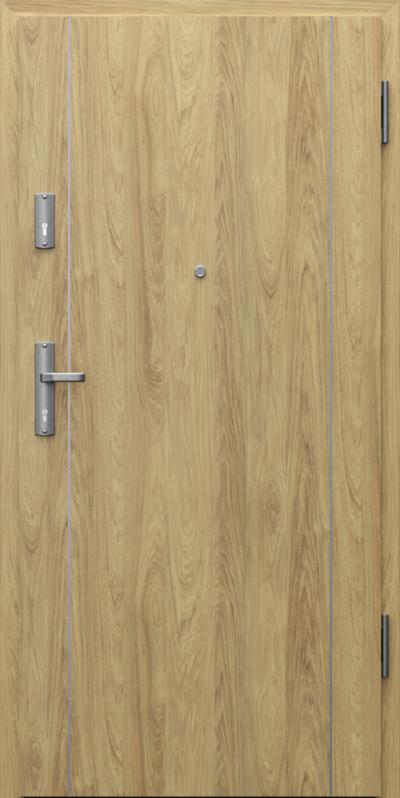 Drzwi wejściowe do mieszkania EXTREME RC3 intarsje 1 Okleina CPL HQ 0,2 ***** Hikora Naturalna