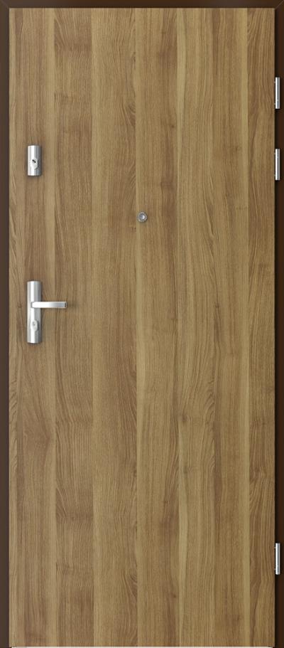 Drzwi wejściowe do mieszkania KWARC pełne Okleina Portasynchro 3D *** Akacja Miodowa