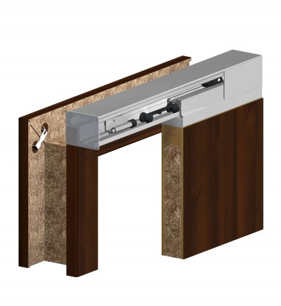 ALU sliding system Walnut 4
