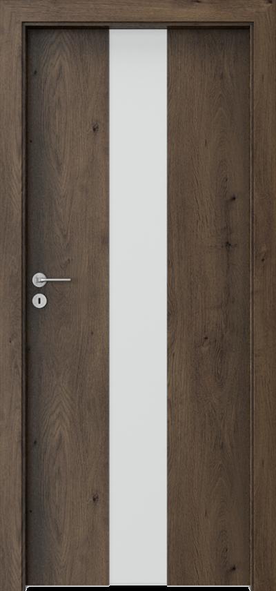 Drzwi wewnętrzne Porta FOCUS 2.0 szyba matowa Okleina Portaperfect 3D **** Dąb Południowy