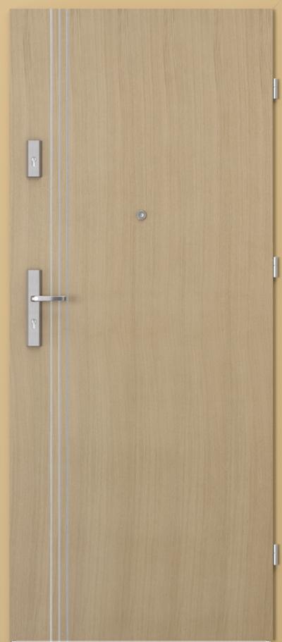 Drzwi wejściowe do mieszkania AGAT Plus intarsje 3 Okleina Naturalna Dąb **** Dąb 1