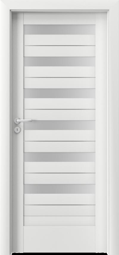 Drzwi wewnętrzne Porta VERTE HOME, D D.6 intarsje Okleina Portadecor *** Biały