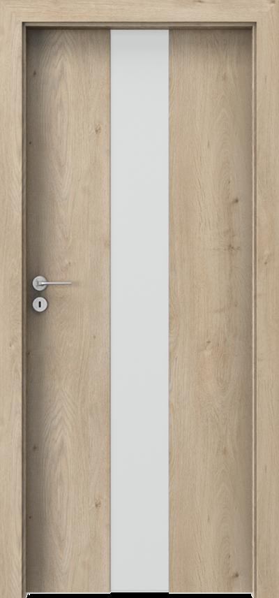 Drzwi wewnętrzne Porta FOCUS 2.0 szyba matowa Okleina Portaperfect 3D **** Dąb Klasyczny
