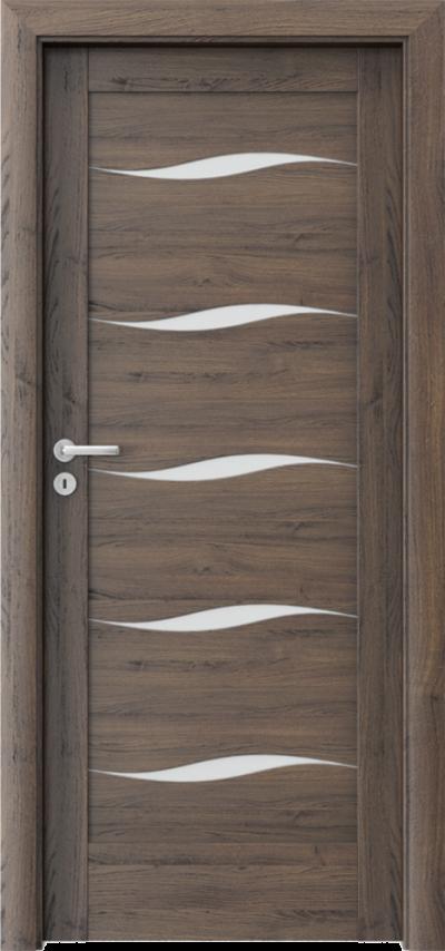 Drzwi wewnętrzne Porta VERTE HOME, E-F F.5 Okleina Portasynchro 3D *** Dąb Szkarłatny