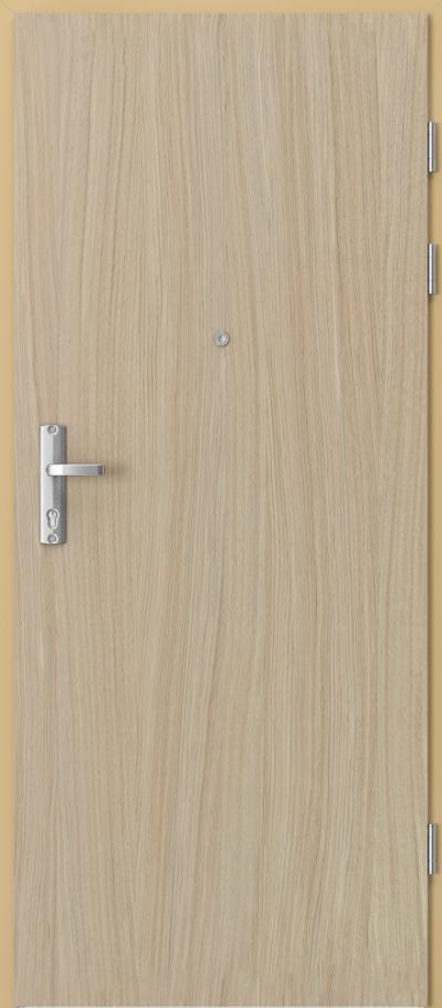 Drzwi wejściowe do mieszkania EXTREME RC3 płaskie pion Okleina Naturalna Dąb Satin **** Dąb Jasny