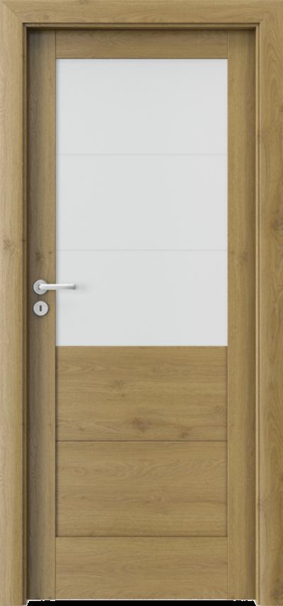 Drzwi wewnętrzne Porta VERTE HOME, B B.3 Okleina Portaperfect 3D **** Dąb Naturalny