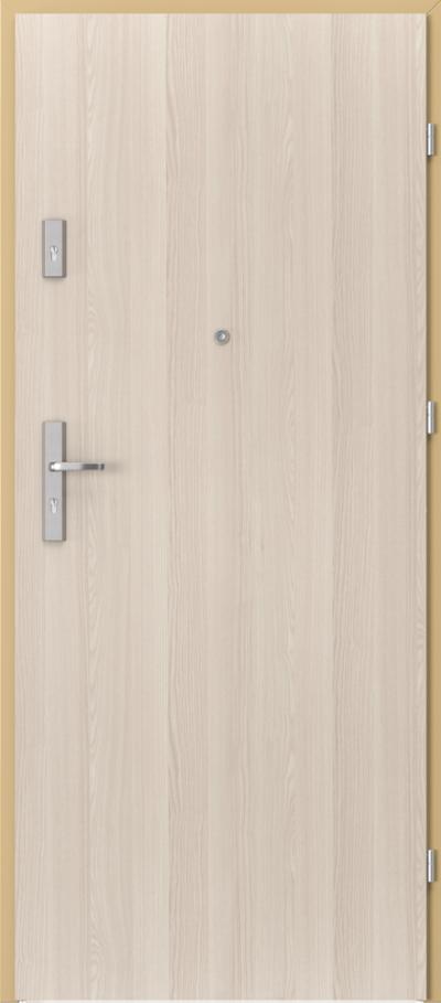 Drzwi wejściowe do mieszkania AGAT Plus pełne Okleina CPL HQ 0,2 ***** Orzech Bielony
