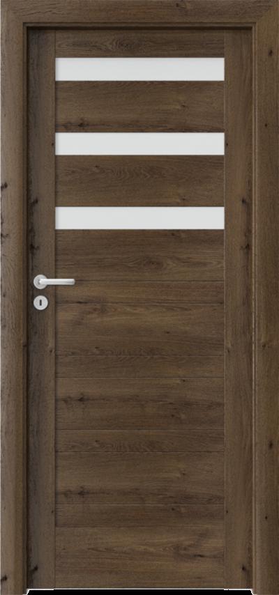 Drzwi wewnętrzne Porta VERTE HOME, D D.3 Okleina Portaperfect 3D **** Dąb Południowy