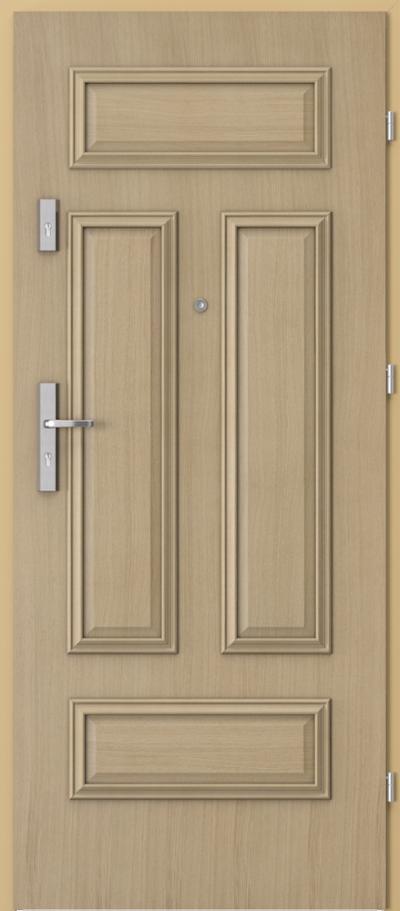 Drzwi wejściowe do mieszkania AGAT Plus ramka 4 z panelem