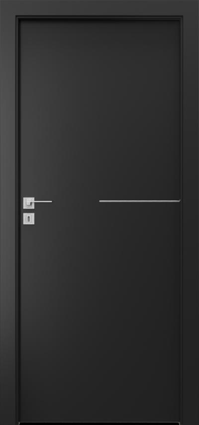 Drzwi wewnętrzne Porta LINE G.1 Okleina CPL HQ 0,2 ***** Czarny