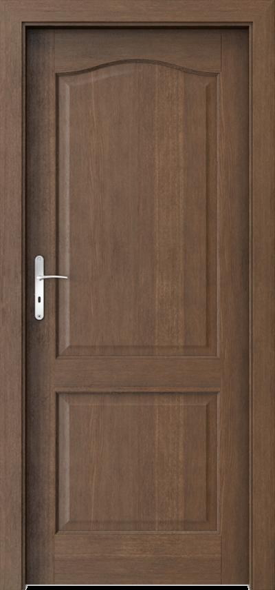Drzwi wewnętrzne MADRYT pełne Okleina Naturalna Dąb Satin **** Dąb Brunatny