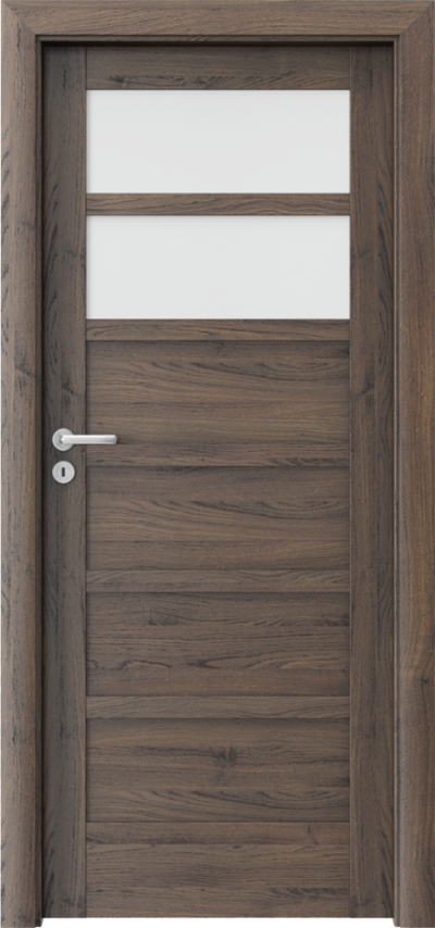 Drzwi wewnętrzne Porta VERTE HOME, A A.2 Okleina Portasynchro 3D *** Dąb Szkarłatny