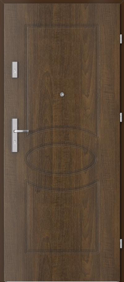 Drzwi wejściowe do mieszkania OPAL Plus frezowane model 8
