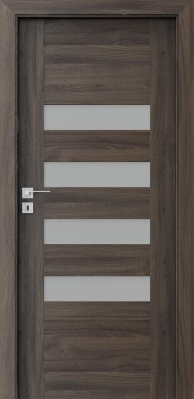 Drzwi wewnętrzne Porta KONCEPT H.4 Okleina Portasynchro 3D *** Dąb Ciemny