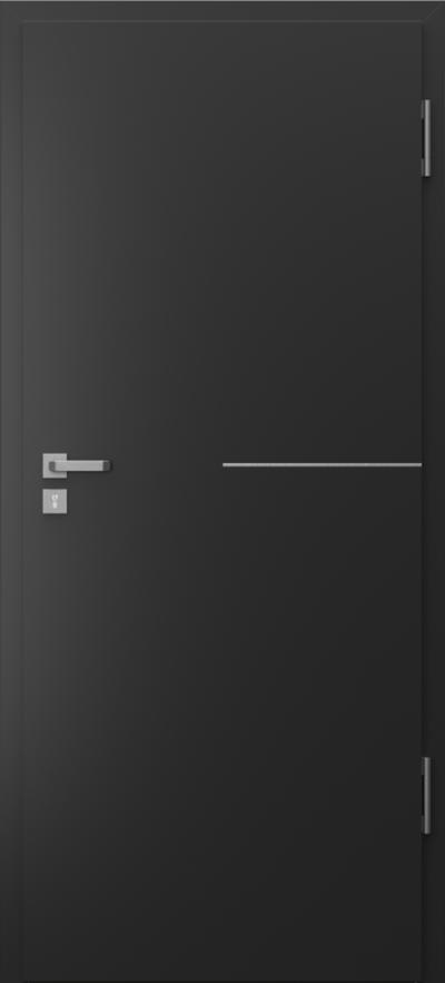 Drzwi techniczne Porta SILENCE 37 dB + EI30 intarsje 8