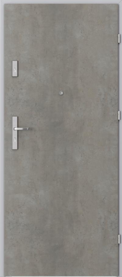 Drzwi wejściowe do mieszkania OPAL Plus pełne Okleina CPL HQ 0,2 ***** Beton jasny