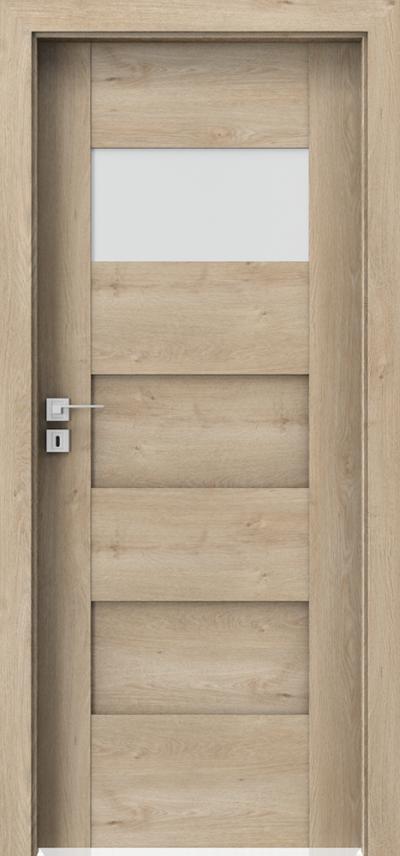 Drzwi wewnętrzne Porta KONCEPT K.1 Okleina Portaperfect 3D **** Dąb Klasyczny