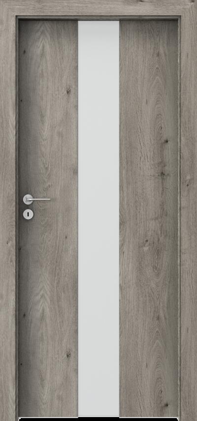 Drzwi wewnętrzne Porta FOCUS 2.0 szyba matowa Okleina Portaperfect 3D **** Dąb Syberyjski