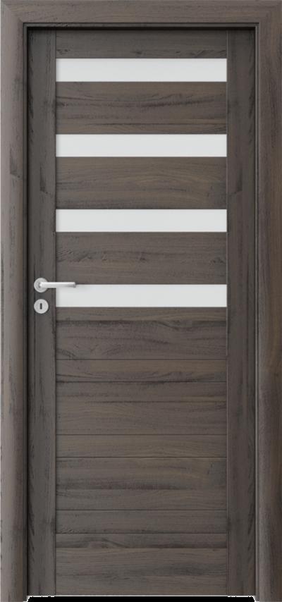 Drzwi wewnętrzne Porta VERTE HOME, D D.4 Okleina Portasynchro 3D *** Dąb Ciemny