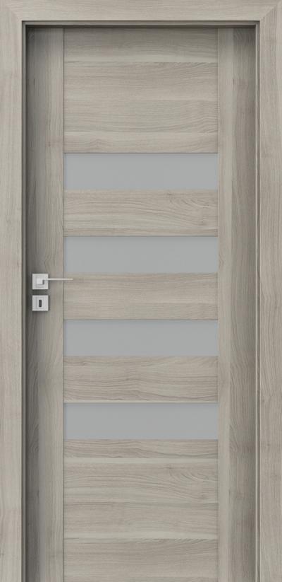 Interiérové dveře Porta KONCEPT H.4 Fólie Portasynchro 3D *** Akát Stříbrný